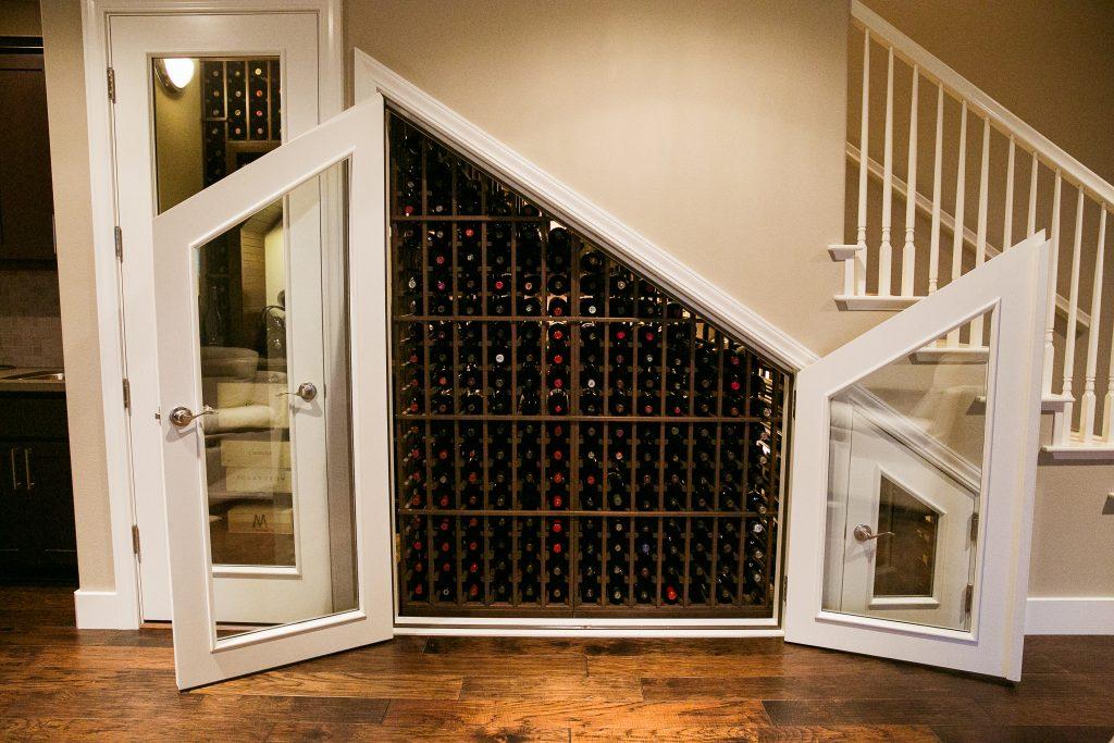 Beautiful Under-Stair Wine Storage in Las Vegas home