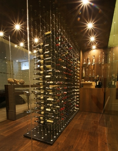 Custom Wine Cellars Los Angeles has a wide experience in building wine storage systems of various styles. The latest trend in cellar design involves the use of steel displays to achieve a contemporary look. Moreover, metal wine racks are ideal for any-sized cellar because they are efficient in maximizing space. Our team installs metal racking systems manufactured by the best in the industry, namely: Degré 12, STACT, VintageView, Cable Wine Systems, Ultra, and Kessick.