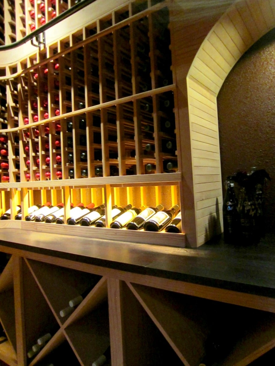 Back Wall of Home Wine Cellar Designed by Las Vegas Master Builders
