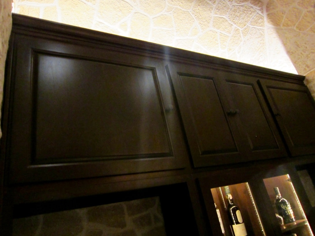 Home Bar Solid Cabinets by Las Vegas Nevada Builders