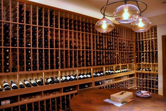 Left Wall Custom Wine Cellar Racks